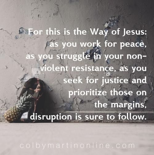 the way of jesus disruption pacifism progressive christianity